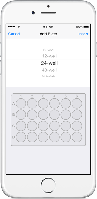 Hivebench on iPhone: Plates Widget