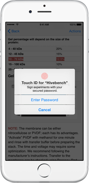 Signing with Touch ID