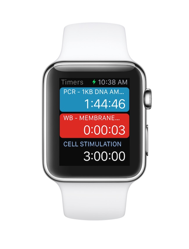 Laboratory Timer on Apple Watch