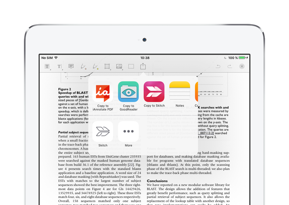 Annotate PDF with external app